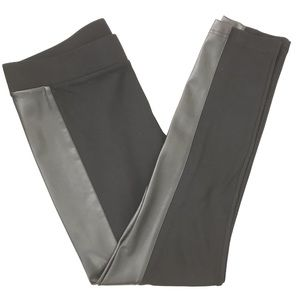 CAbi Large Bexley Leggings Faux Leather Panel 3397